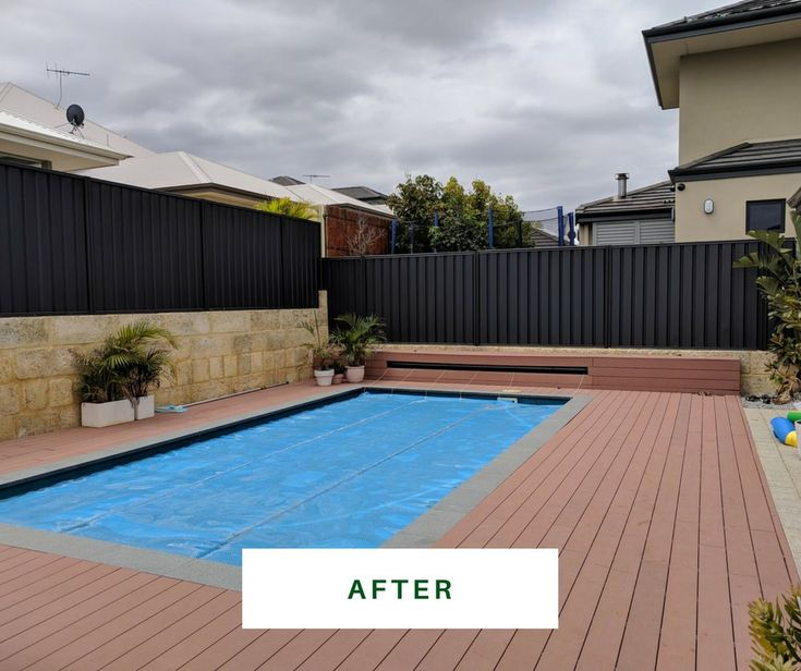 Stunning charcoal colorbond fence. https://fencemakeovers.com.au