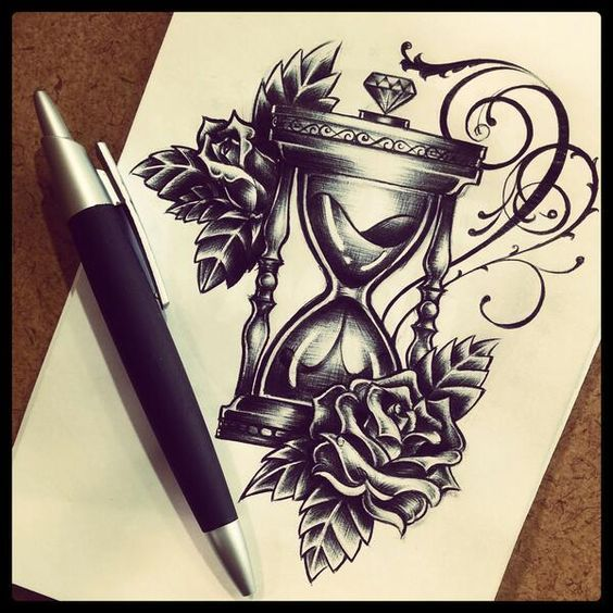 Sanduhr gezeichnet tattoo  14 besten Tattoo-Ideen Bilder auf Pinterest | Tatoo, Kompass und ...