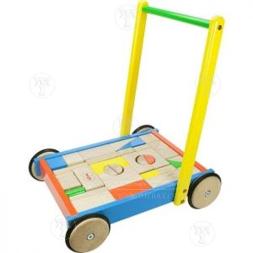 Baby Walker with ABC Blocks: Only £34.99 from Toyday Toyshop. Toyday traditional & classic toys is an old fashioned toy shop on the high street and online. Merchants of traditional and classic toys, Toyday's focus is on good old fashioned customer service & traditional value.