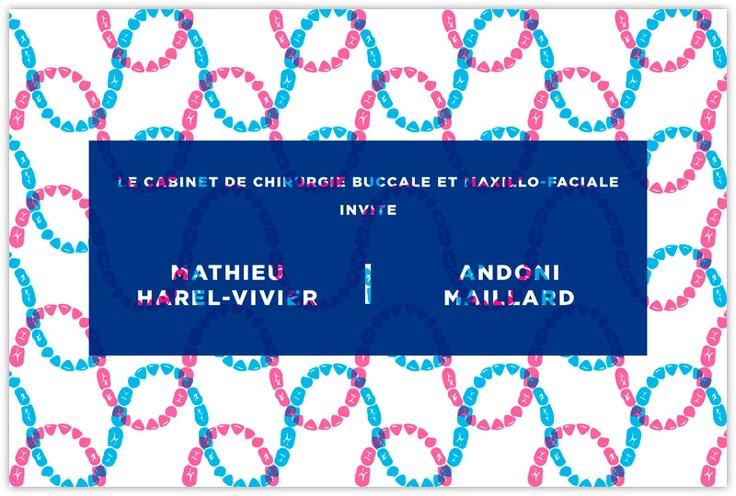 Mathieu Harel-Vivier & Andoni Maillard exhibition at Cabinet de chirurgie buccale et maxillo-faciale (Fr), june 2011.  Works : flyers
