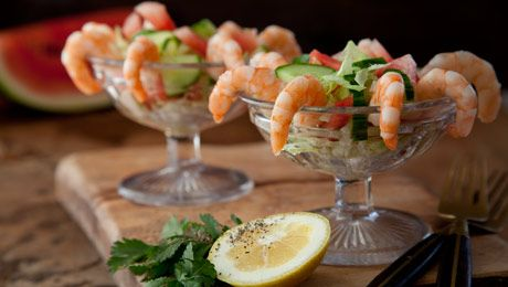Prawn Cocktail with Melon & Cucumber #Appetisers #SimpleStarters