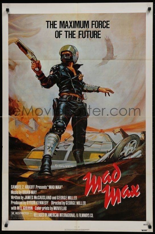 1 of 1 : 1x390 MAD MAX 1sh R1983 George Miller post-apocalyptic classic, Garland art of Mel Gibson!