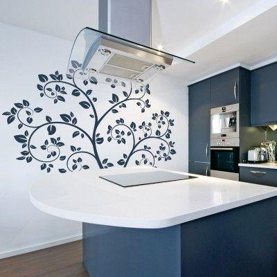 """Adesivo Murale - Albero Primaverile.  Adesivo murale di alta qualità con pellicola opaca di facile installazione. Lo sticker si può applicare su qualsiasi superficie liscia: muro, vetro, legno e plastica.  L'adesivo murale """"Albero Primaverile"""" è ideale per decorare la vostra cucina o il vostro soggiorno. Adesivi Murali."""