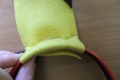 How to make an ear / horn. Pikachu Ear Headband - Step 3