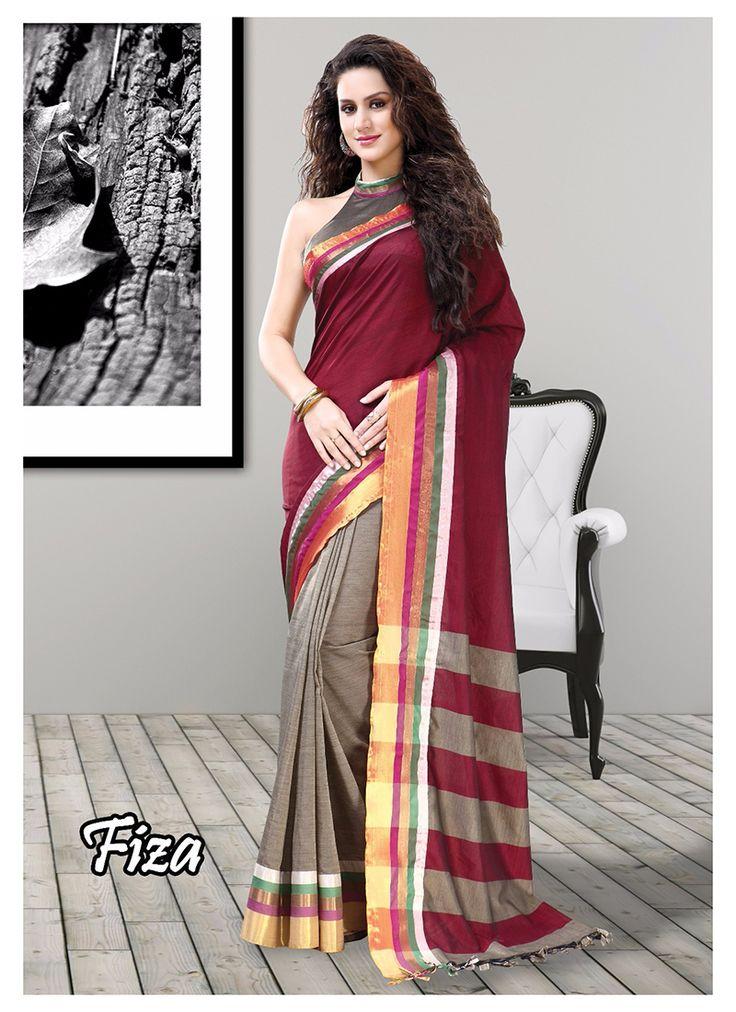 Grey Wholesale Designer Saree Supplier From India