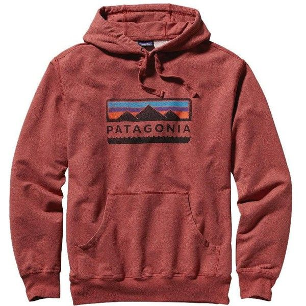 Patagonia Men's Tres Peaks Midweight Hooded Pullover Sweatshirt ($79) ❤ liked on Polyvore featuring mens, men's clothing, men's hoodies, outerwear, sweatshirts and rusted iron