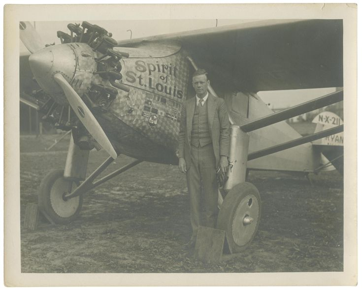 Charles Lindbergh with the Spirit of St. Louis, 1927