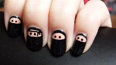 Ninja nails! Perfect.