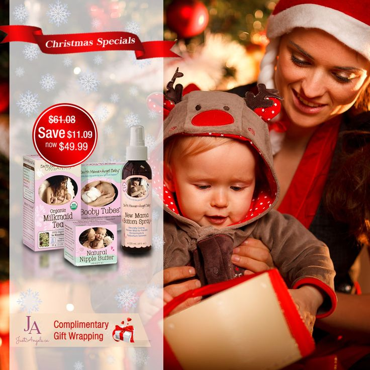 Save on Earth mama Christmas gift set and receive a complimentary gift wrapping till December 2nd 2015. #Earthmama #Christmas #Breastfeeding