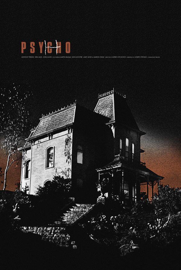 Psycho alternative movie poster by TheArtOfAdamJuresko on Etsy https://www.etsy.com/listing/129702654/psycho-alternative-movie-poster