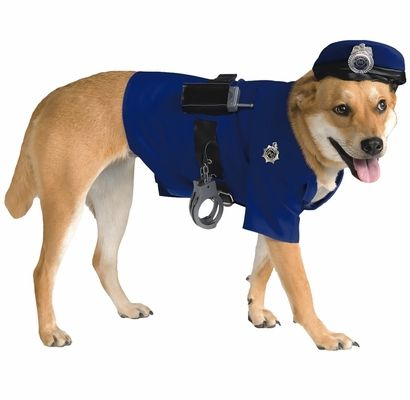 This Police #Dog Costume comes with everything your dog needs to keep you arrested with cuteness! This costume includes a blue shirt that is designed to look like a police uniform and matching accessories.