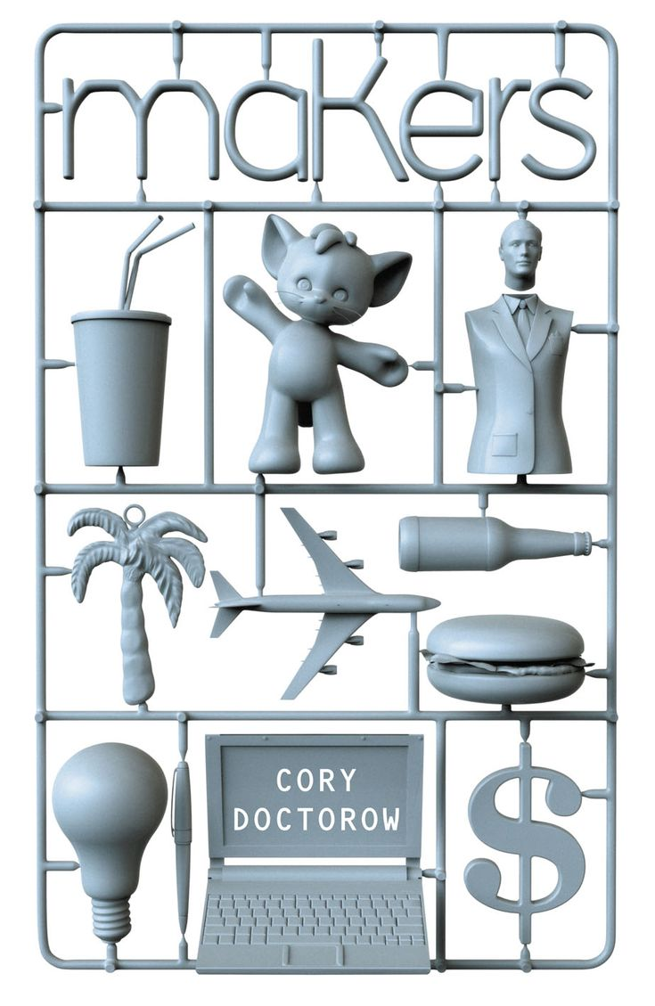 'Makers' by Cory Doctorow - what if we lived in a world where replicators could create about anything , just like on the Starship Enterprise? What would happen to our economy...