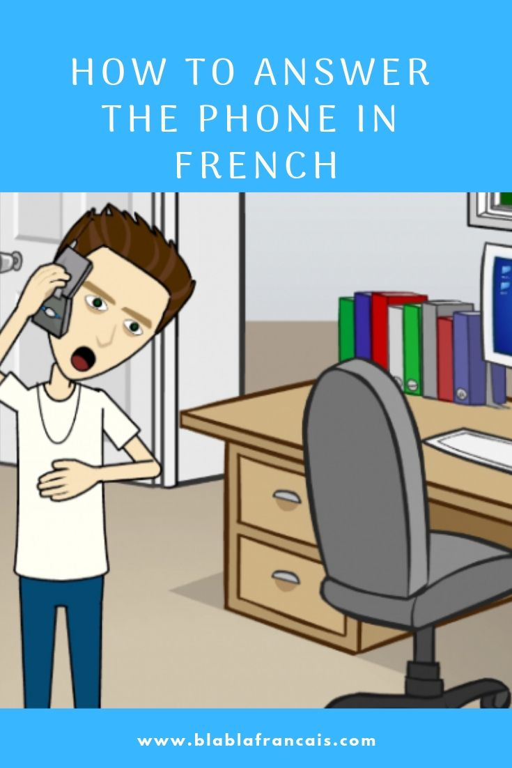 Answering The Phone In French With Audio Dialogue Common Phrases Answers Phone