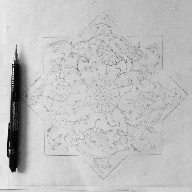 This is how it all starts! #designs #drawing #islimi #arabesque #tezhip #art…