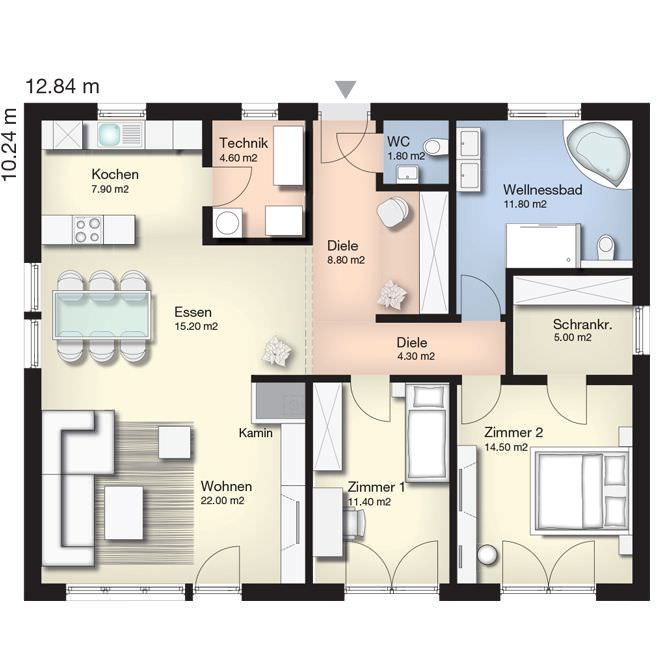 25+ best Grundriss bungalow ideas on Pinterest  Haus ...