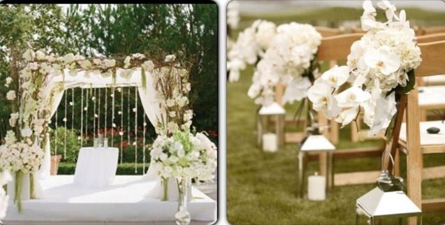 All White Indoor Wedding Ceremony Site: All White Outdoor Wedding Ceremony
