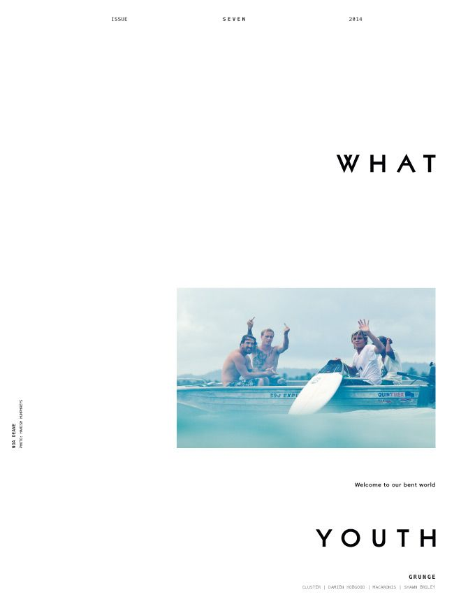 What Youth Issue 7 (Rejected Cover Design)