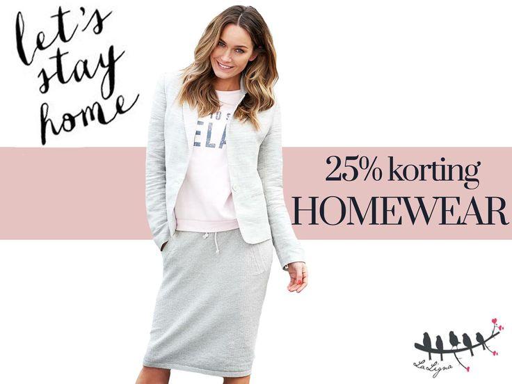 #LaLigna HAPPY WEEKEND • Het is bijna weekend! En hoe beter dat weekend te spenderen in onze relaxte homewear collectie. Hoe maken wij dat nog beter? Nou, tot en met zondag 25 maart krijg jij 25% korting op de gehele homewear collectie. #Enschede #haverstraatpassage