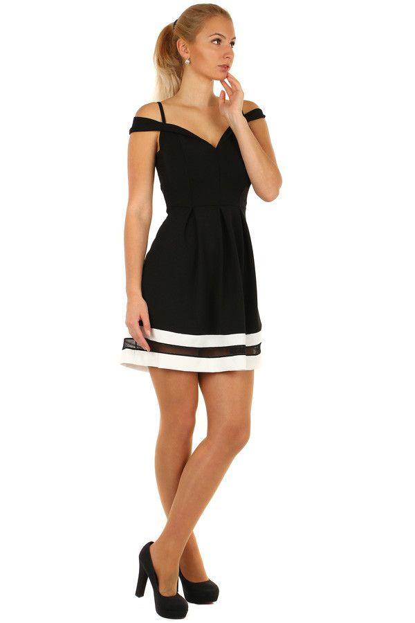 4e37f701d534 Krátké plesové šaty s kontrastním lemem - koupit online na Glara.cz   damskesaty