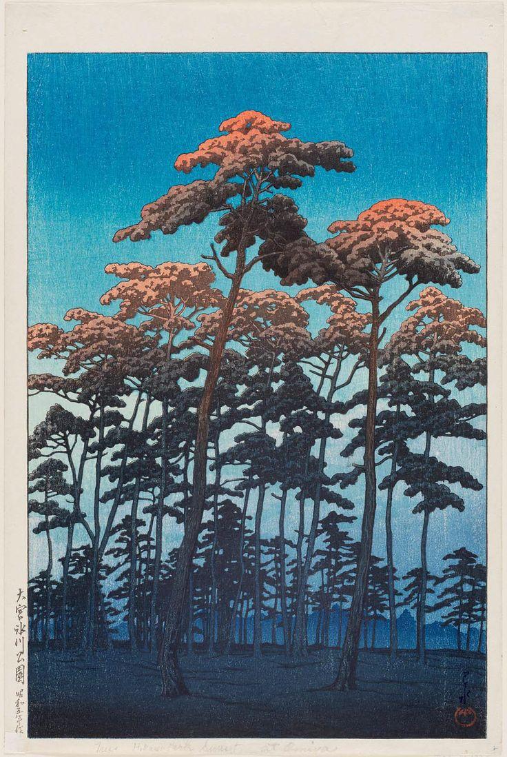 'Hikawa Park at Ômiya' (1930). Woodblock print by Kawase Hasui (1883–1957). Image and text courtesy MFA Boston.