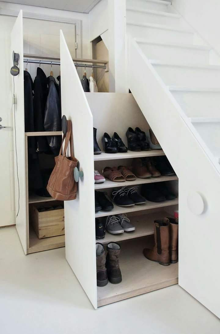 Shoe Rack and Wardrobe Space Under the