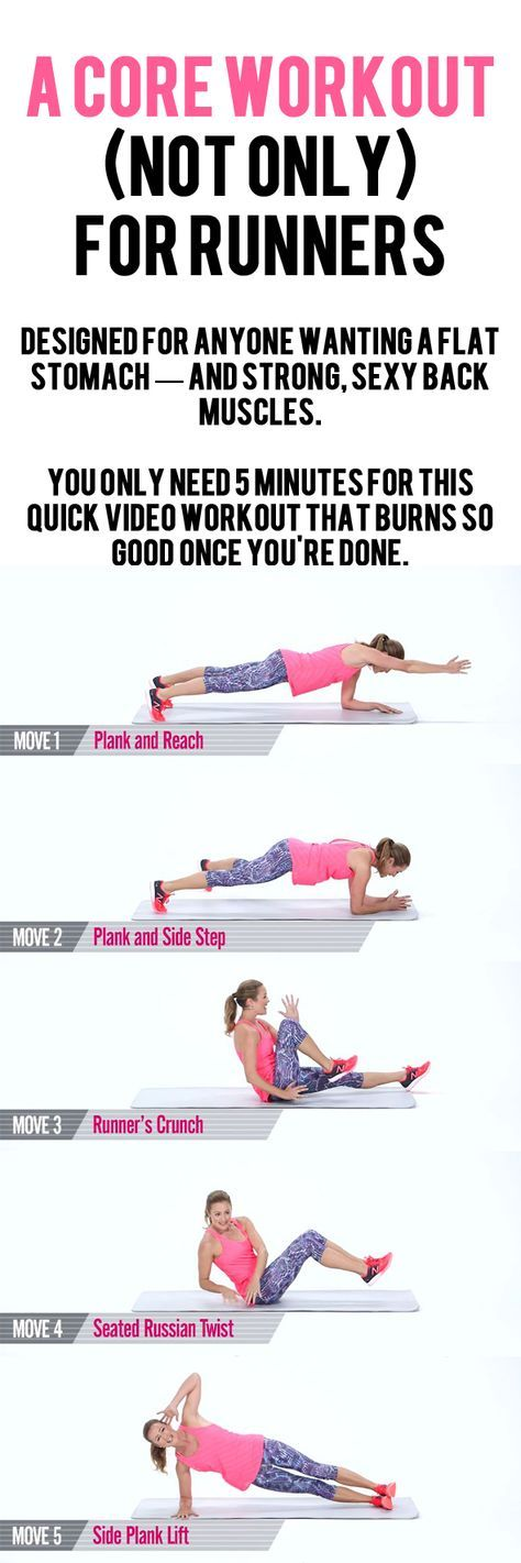 Strengthen muscles around your abdominals, obliques, and spine.