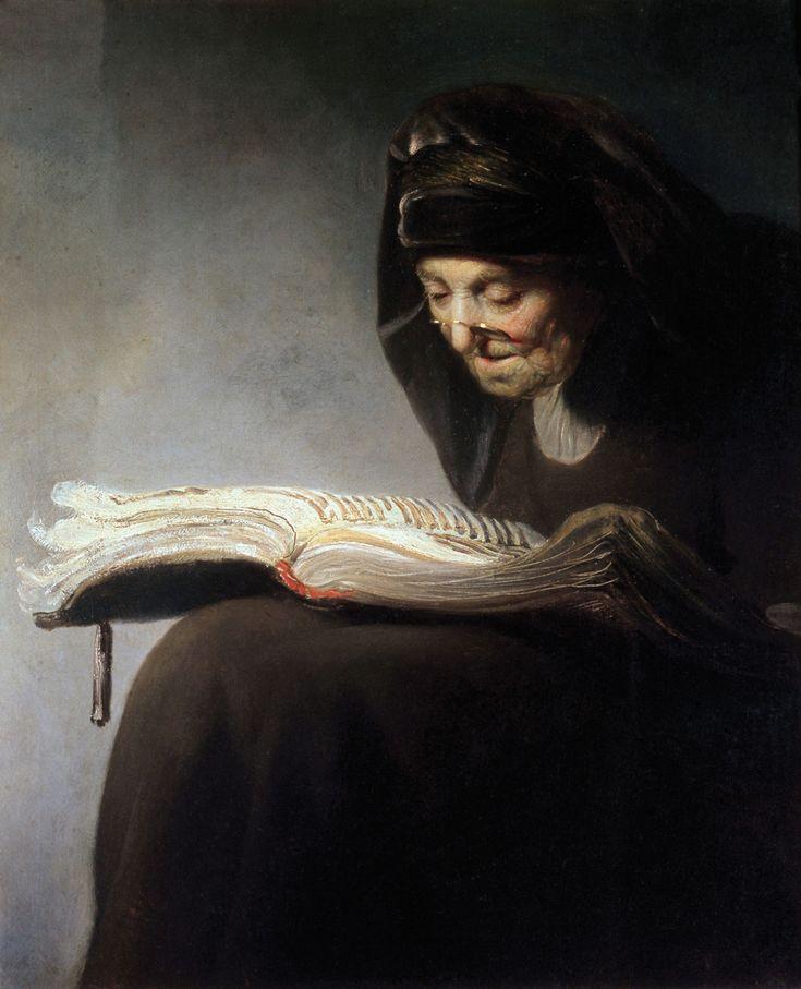 Art in Space: Rembrandt Harmensz. van Rijn: Rembrandt's Mother Reading (1629)