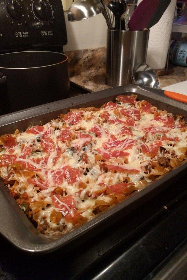 Pizza Casserole Recipe Food Recipes Pizza Casserole