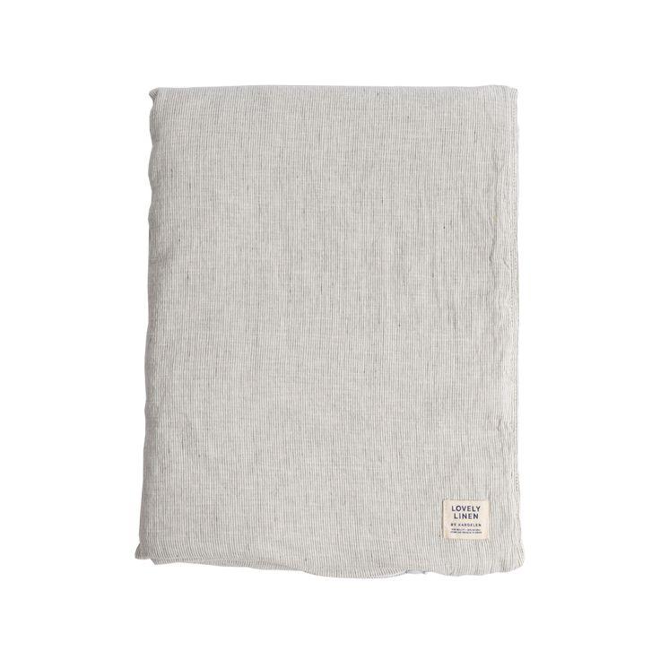 Lovely Fine Stripe påslakan - Lovely Fine Stripe påslakan - white/graphite