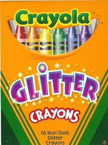 CRAYOLA GLITTER CRAYONS 16 CRAYONS by CRAYOLA LLC. $13.32. CRAYOLA GLITTER CRAYONS 16 CRAYONS. Crayola® Glitter Crayons sixteen different colors that sparkle and shimmer for a unique effect. Tip and barrel strong, durable, long lasting and economical. Double-wrapped for added strength with the color name on the label. Glitter regular size cr. Save 42%!