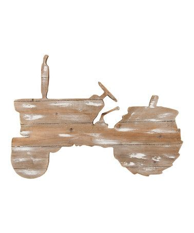 Love this Weathered Wood Tractor Decor on #zulily! #zulilyfinds