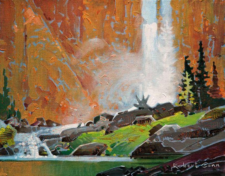 """Chatterbox Falls III,"" by Robert Genn 11 x 14 - acrylic $2800 Unframed"