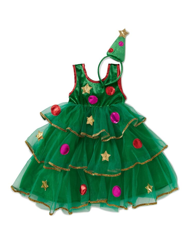 Christmas Tree Fancy Dress Costume | Girls | George at ASDA