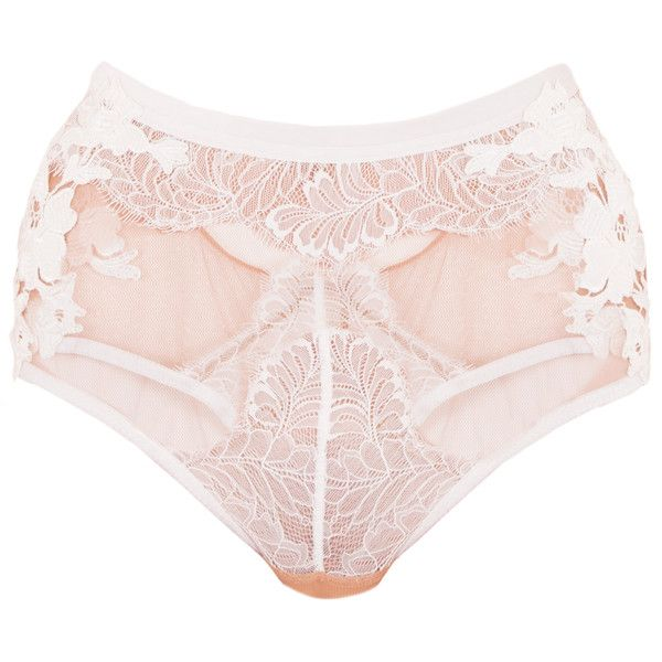 Skivvies Flower Blossom Panty (3,730 MXN) ❤ liked on Polyvore featuring intimates, panties, underwear, for love & lemons, lingerie, undies, strappy lingerie, strappy panties, sheer panty and sheer panties