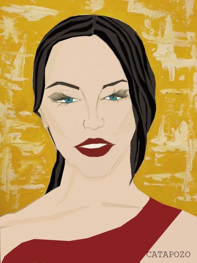 #dibujo #mujer #acrilico #digitalización #photshop #top #woman #style