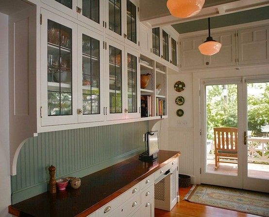 Inspiration for our kitchen renovation.  1920's 1930's inspired.