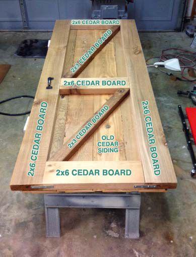 DIY sliding (faux) barn door - much cheaper than a real reclaimed barn door!