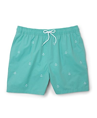 Southampton Anchor Embroidered Swim Trunks by Brooks Brothers. Pat would NEVER agree to wear this, but I love it!