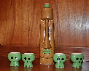 Shag Tiki Farm Akuku Decanter Shot Mugs 2002 Sold Out Limited Edition | eBay,,