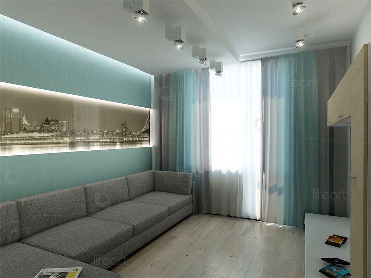 Современная гостевая комната «Золотая гавань» | lifeat.su