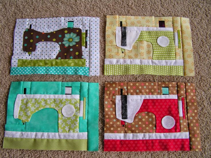 I just can't get enough of these fun sewing machine blocks from Deana! They  won the most clicks in ourShow Off Saturday Linky Partythis week and I'm  so glad because now we can all find out how to get the pattern forFREE:)
