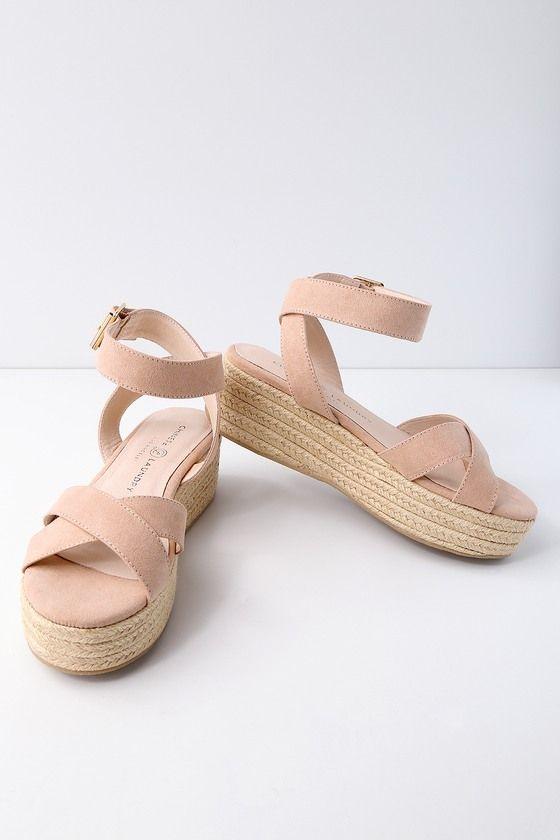 928922d21c2 Zala Dark Nude Suede Espadrille Flatform Sandals 3