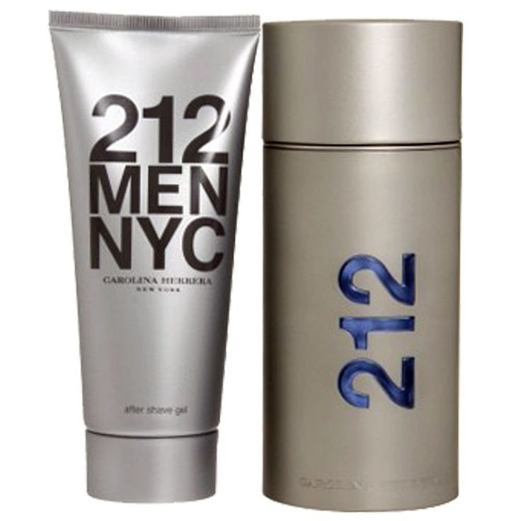 Kit Carolina Herrera 212 Men 100ml   Gel Pós Barba