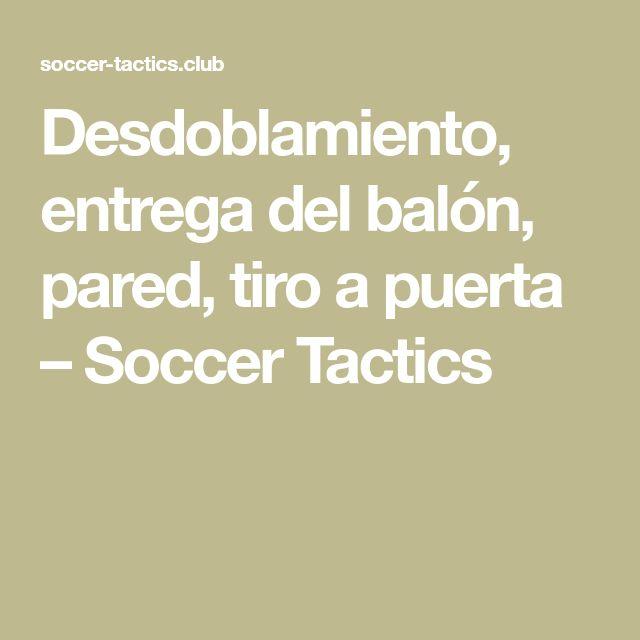 Desdoblamiento, entrega del balón, pared, tiro a puerta – Soccer Tactics