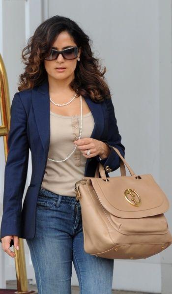Salma Hayek Jeans | And Super elegant Salma, she's always so put together showing us hour ...