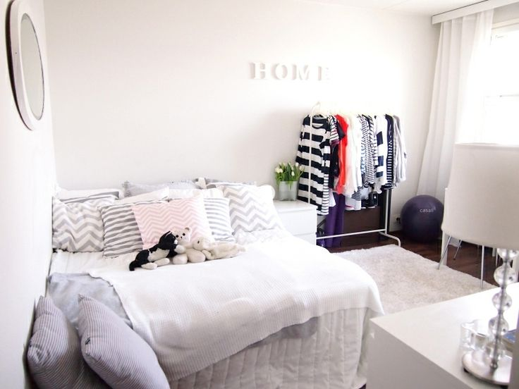 my home,white,grey,new big bed