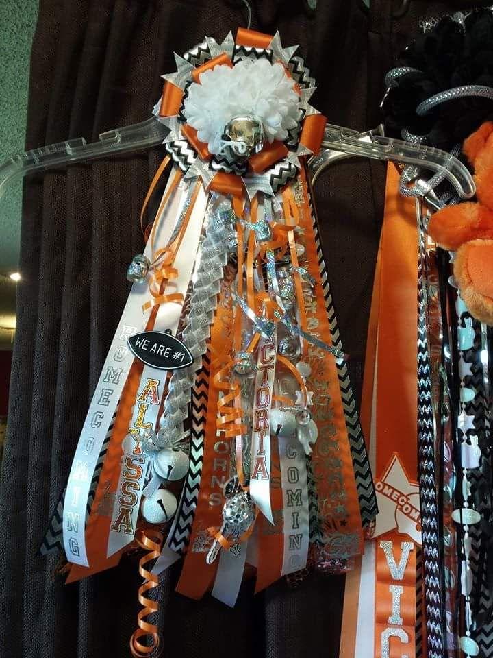 Homecoming Garter Orange Black White Silver Homecoming