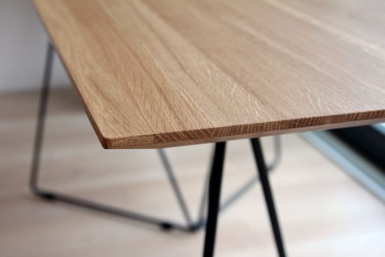 FLY table top - www.miloni.pl/en MILONI: wooden table, oak table, natural wood table, table design, furniture design, modern table