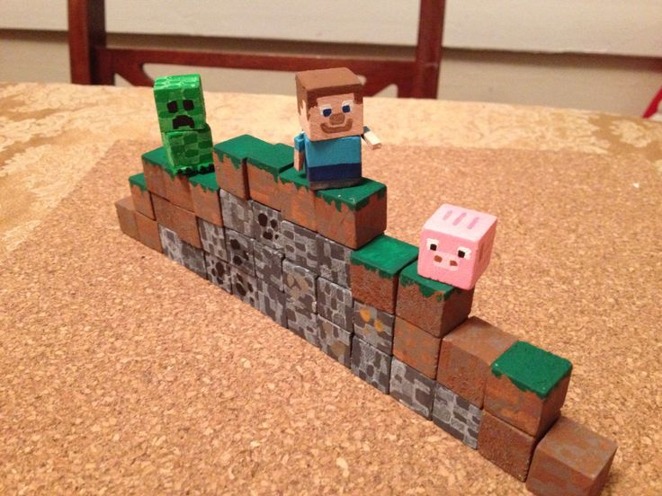 Minecraft blocks and characters