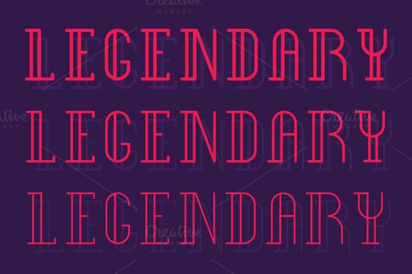 Legendary Type by SNK's on Creative Market